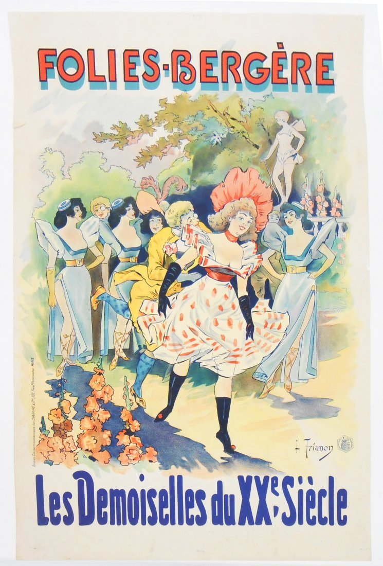 """FRENCH ADVERTISING POSTER """"FOLIES - BERGERE"""""""
