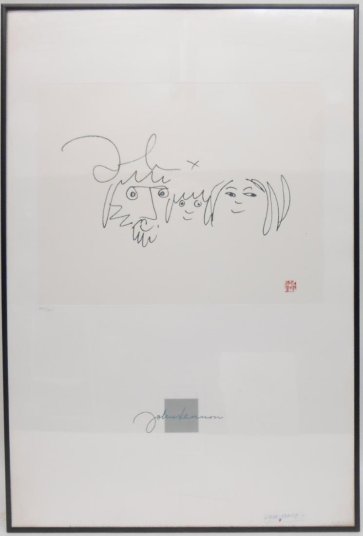 JOHN LENNON ESTATE AUTHORIZED LITHOGRAPHS