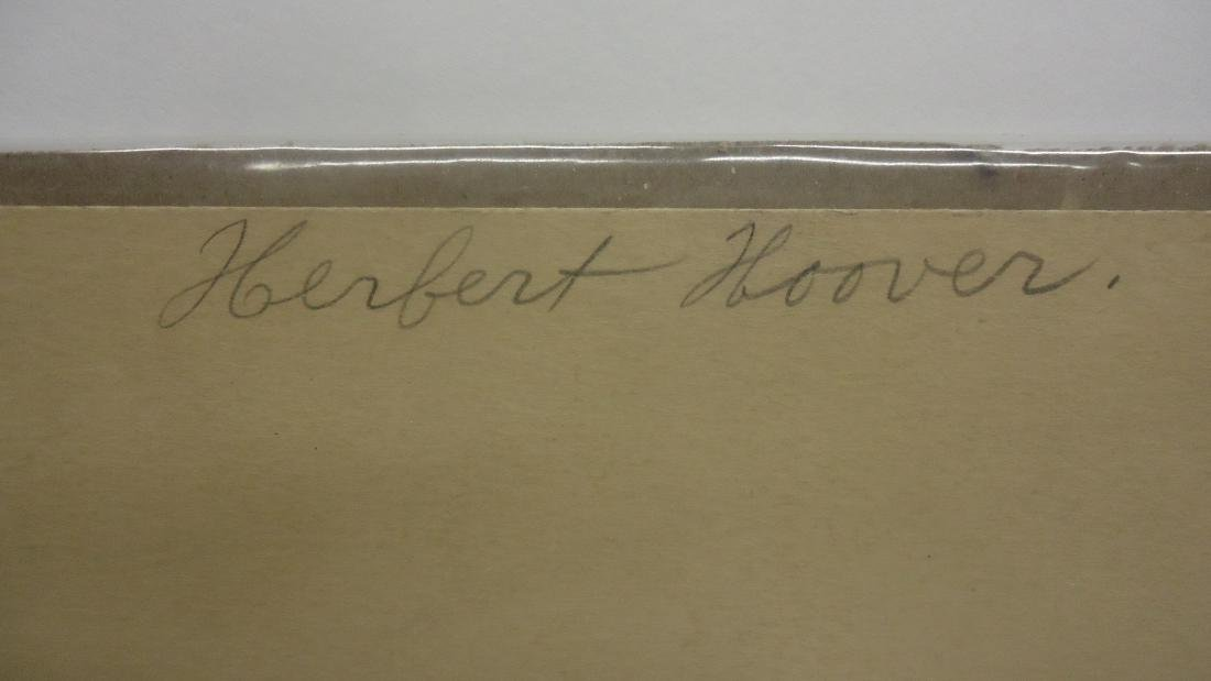 ARTIST SIGNED LITHOGRAPH OF HERBERT HOOVER - 3