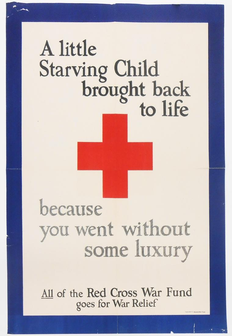 RED CROSS WAR FUND POSTER