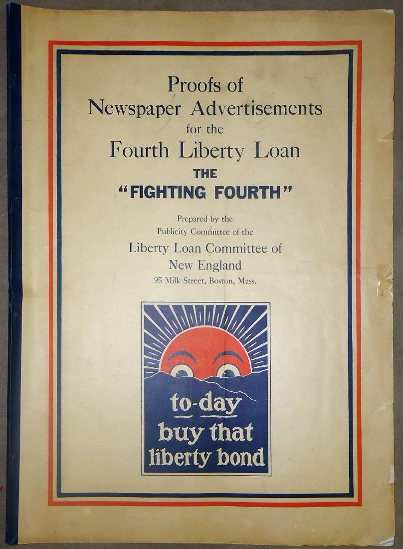 FOURTH LIBERTY LOAN - PROOFS OF NEWSPAPER