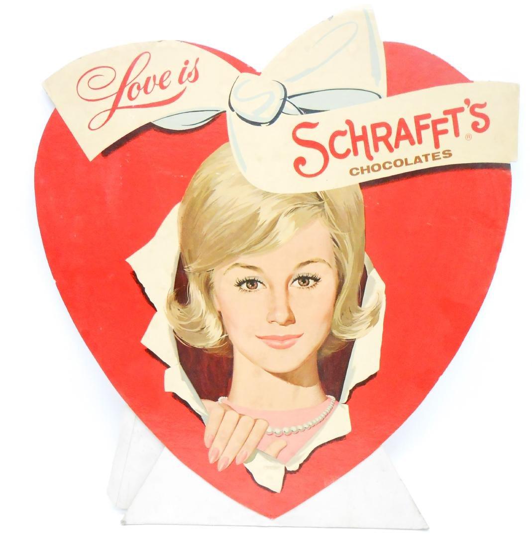 ADVERTISEMENT SCHRAFFT'S CHOCOLATES COUNTER-TOP DISPLAY