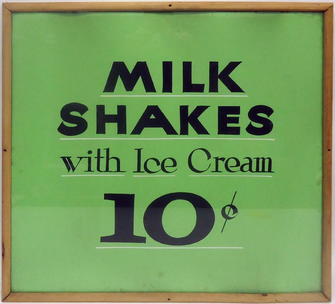MILKSHAKES WITH ICE CREAM 10? SIGN