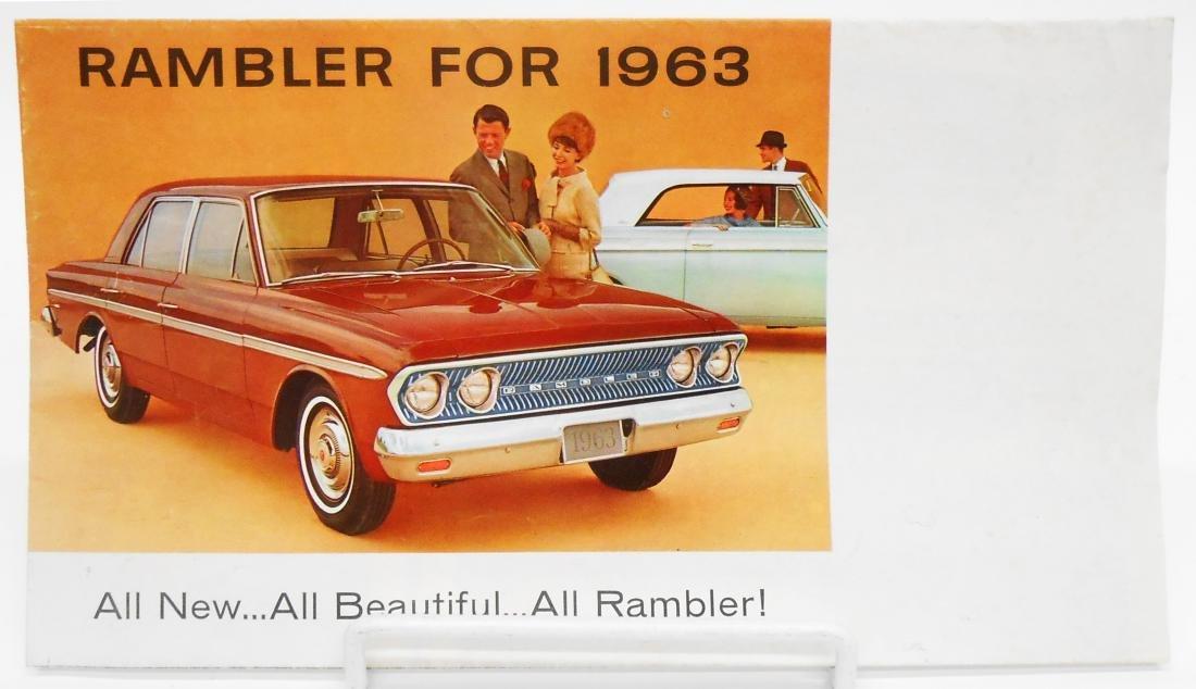 (3) RAMBLER & CHRYSLER ADVERTISING BROCHURES