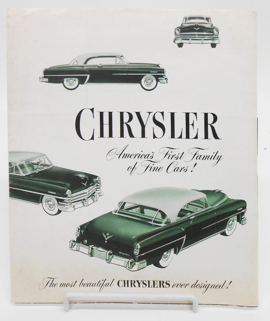 (3) RAMBLER & CHRYSLER ADVERTISING BROCHURES - 2