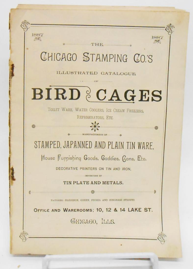 ADVERTISING BIRD CAGES, BIRD & FISH CATALOGS