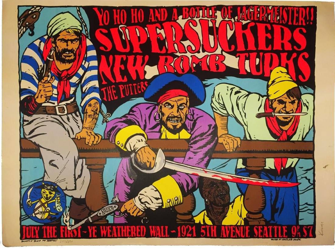 1994 KOZIK COLOR CONCERT POSTER SUPERSUCKERS