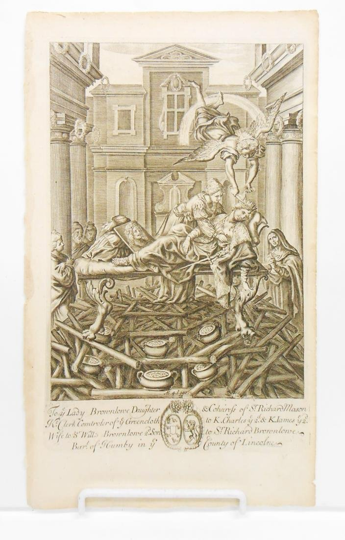 (8) 18TH CENTURY and POSSIBLY 17TH CENTURY ENGRAVINGS - 7
