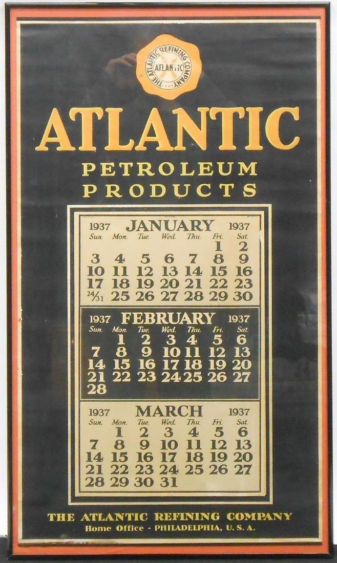 ATLANTIC PETROLEUM 1937 CALENDAR