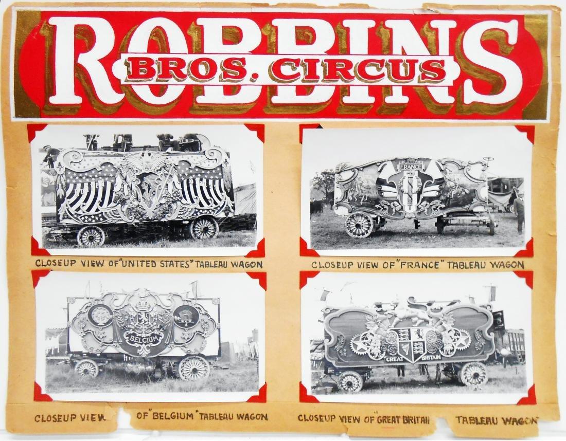1938 CIRCUS PHOTOGRAPHS-ROBBINS BROS. & BARNES-SELLS