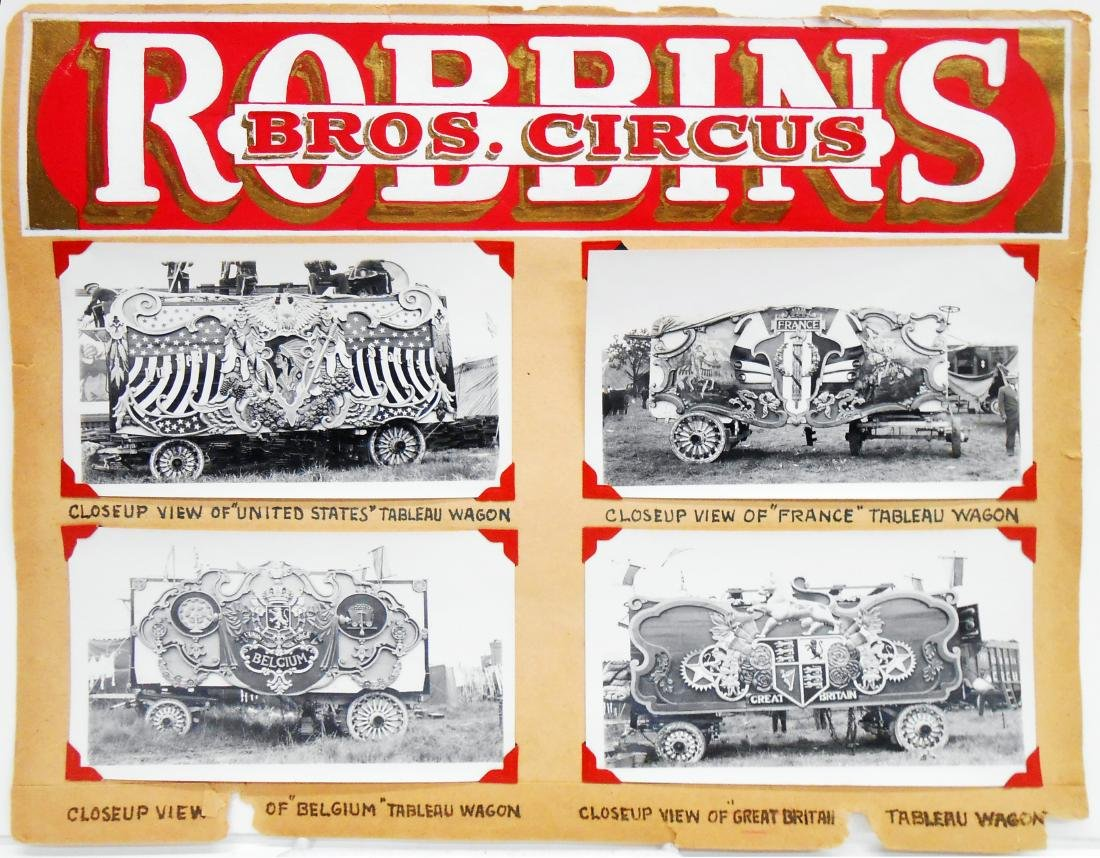 1938 CIRCUS PHOTOGRAPHS-ROBBINS BROS. & BARNES-SELLS