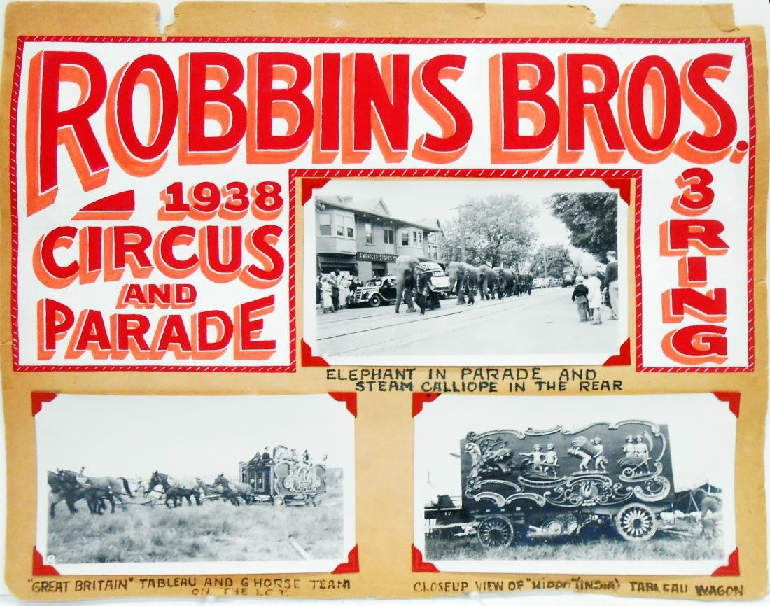 1938 CIRCUS PHOTOGRAPHS-ROBBINS BROS. & BARNES-SELLS - 2