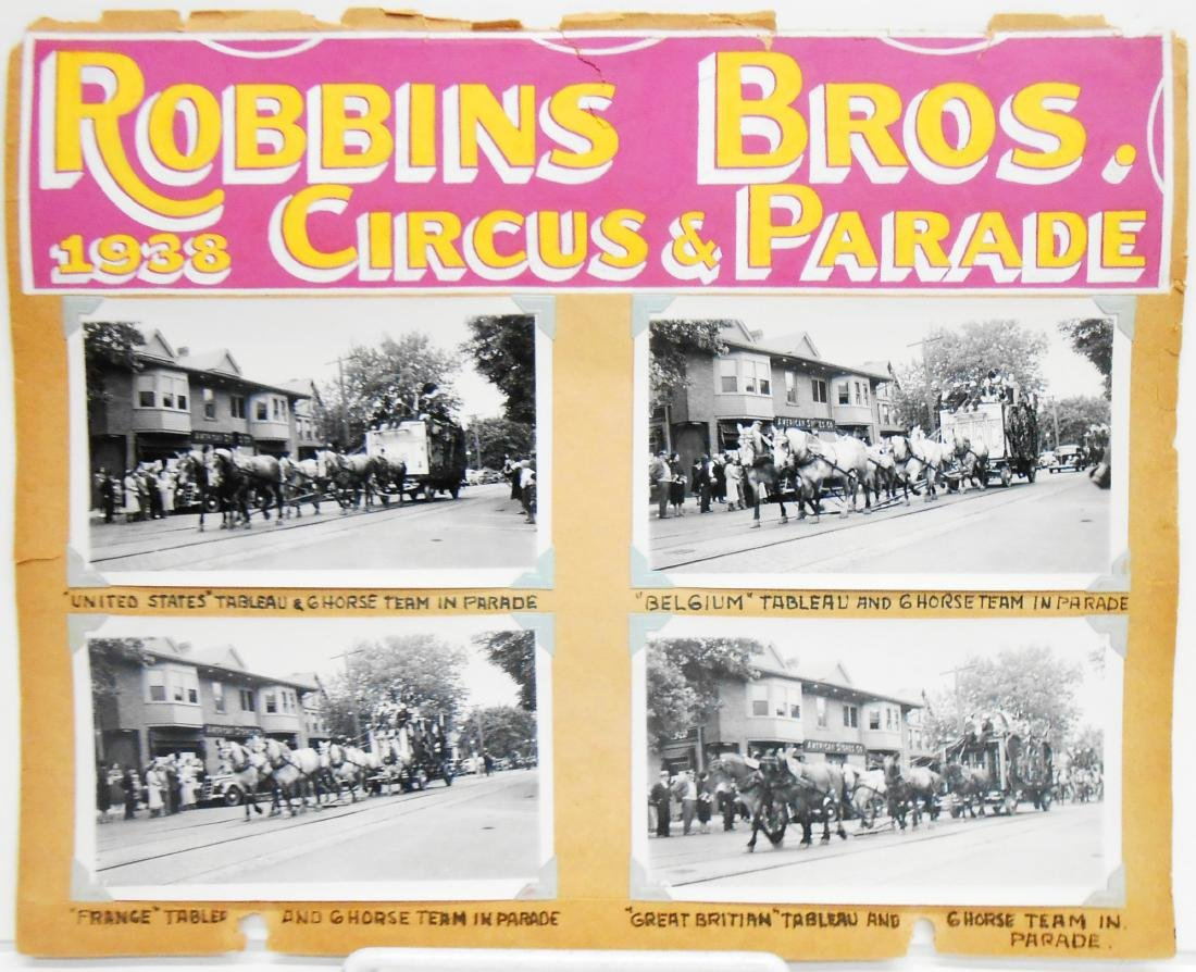 1938 CIRCUS PHOTOGRAPHS-ROBBINS BROS. & BARNES-SELLS - 3