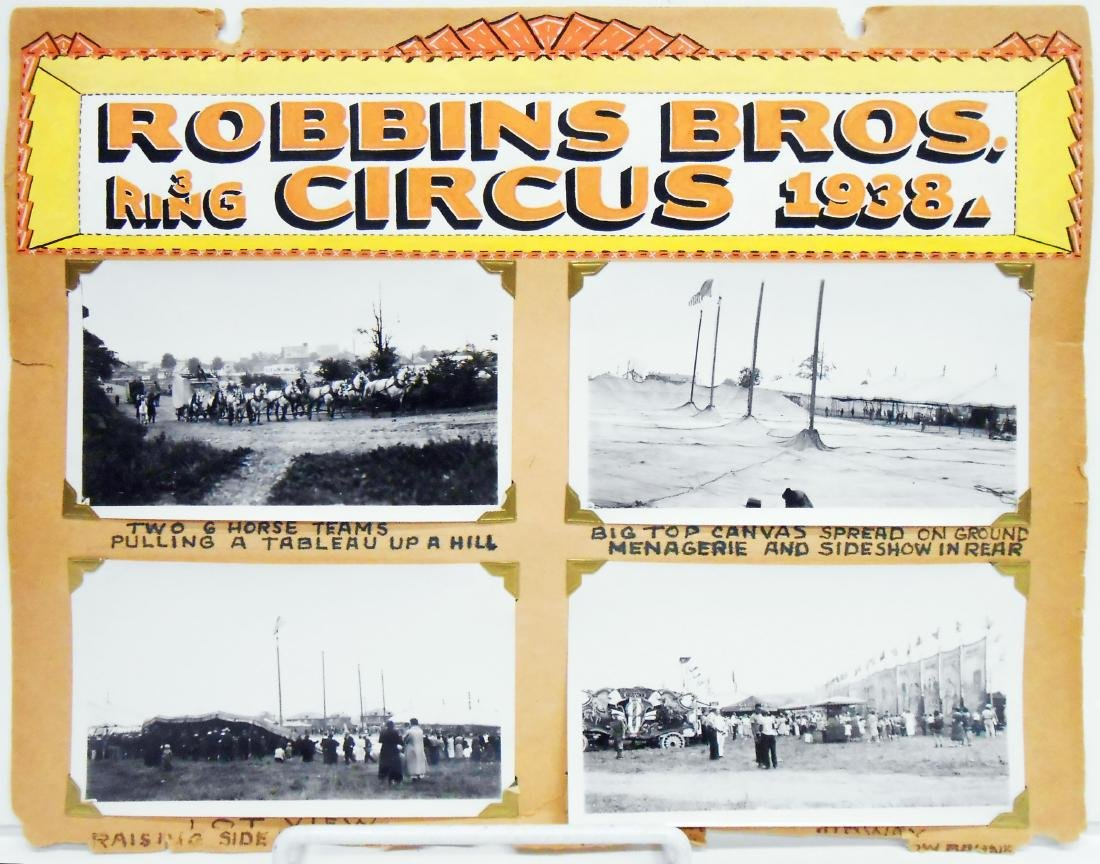 1938 CIRCUS PHOTOGRAPHS-ROBBINS BROS. & BARNES-SELLS - 4