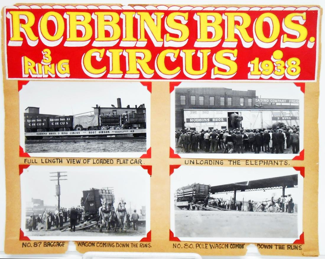 1938 CIRCUS PHOTOGRAPHS-ROBBINS BROS. & BARNES-SELLS - 5
