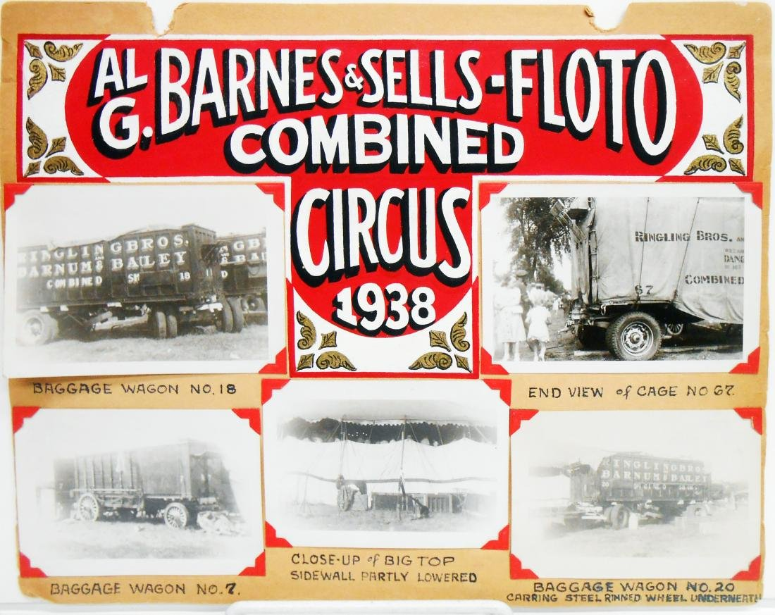 1938 CIRCUS PHOTOGRAPHS-ROBBINS BROS. & BARNES-SELLS - 6
