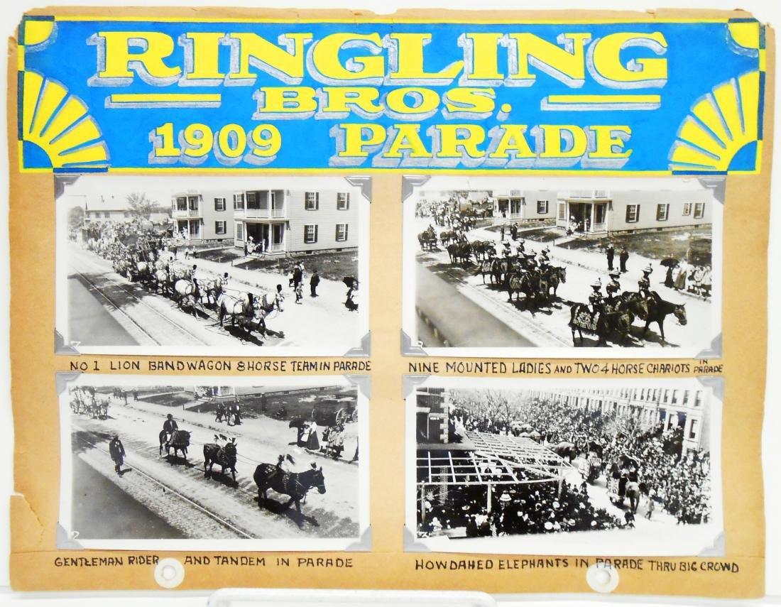 1909 RINGLING BROS. CIRCUS PHOTOS