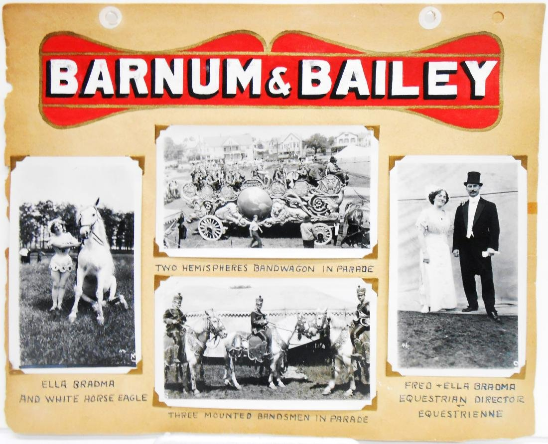 BARNUM & BAILEY CIRCUS PHOTOS - MOSTLY PERFORMERS