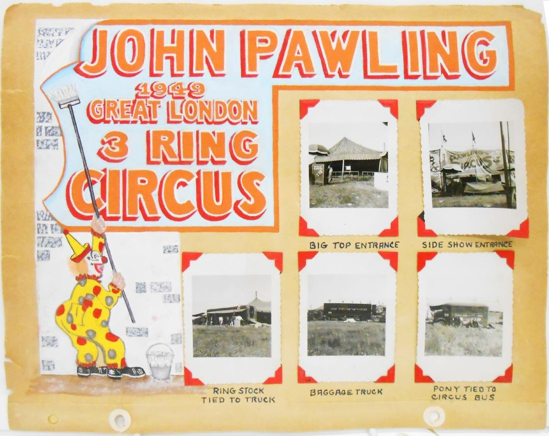 MOSTLY 1920'S CIRCUS PHOTOS - SELLS FLOTO, PAWLING &