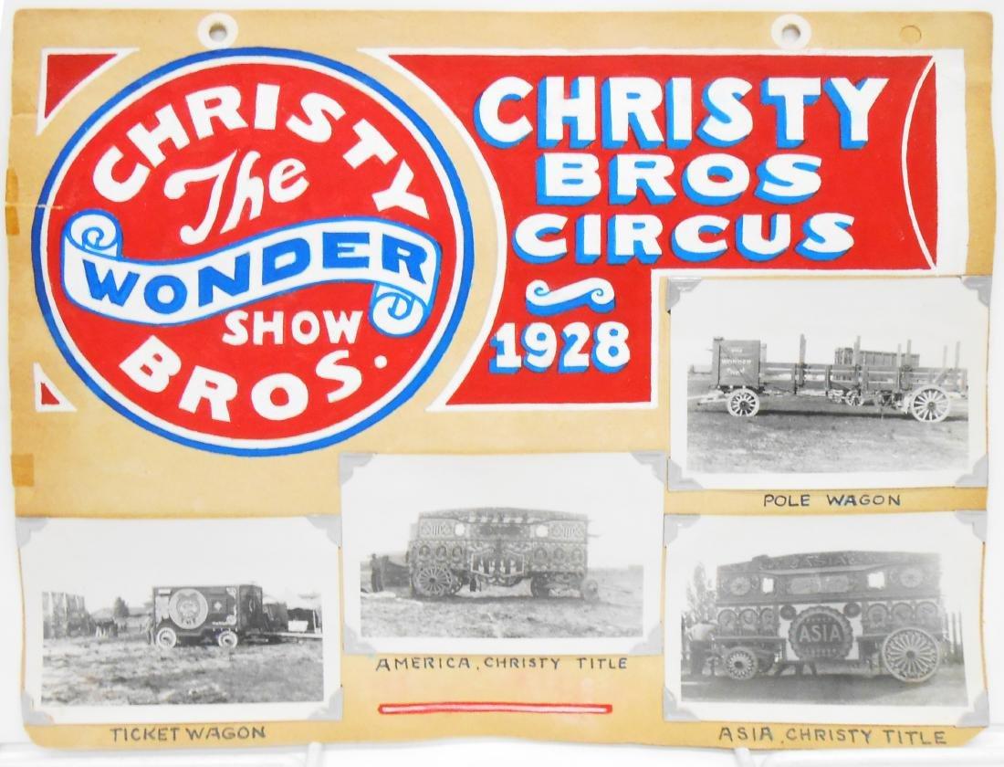 MOSTLY CHRISTY BROS. 1928 CIRCUS PHOTOS