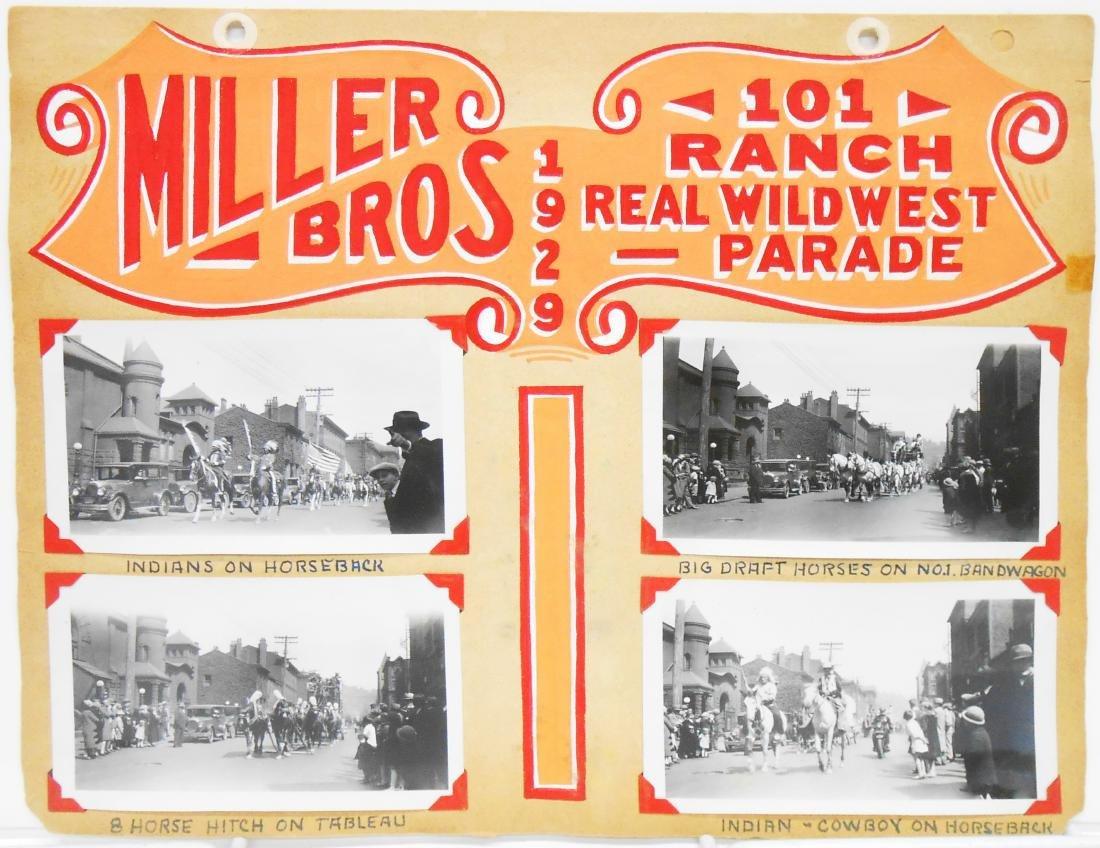 MILLER BROS 1929 CIRCUS PHOTOS