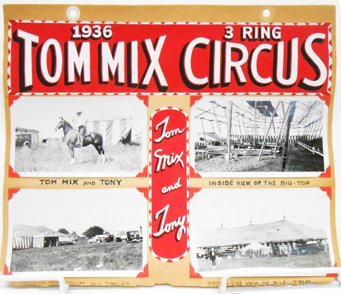 COLE BROS & TOM MIX CIRCUS PHOTOS 1935-6
