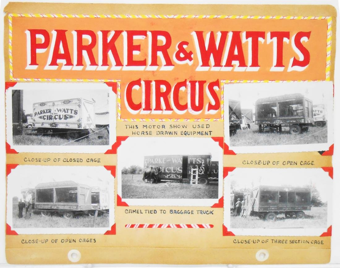 PARKER & WATTS, 1939 & WALLACE BROS. 1944 CIRCUS PHOTOS