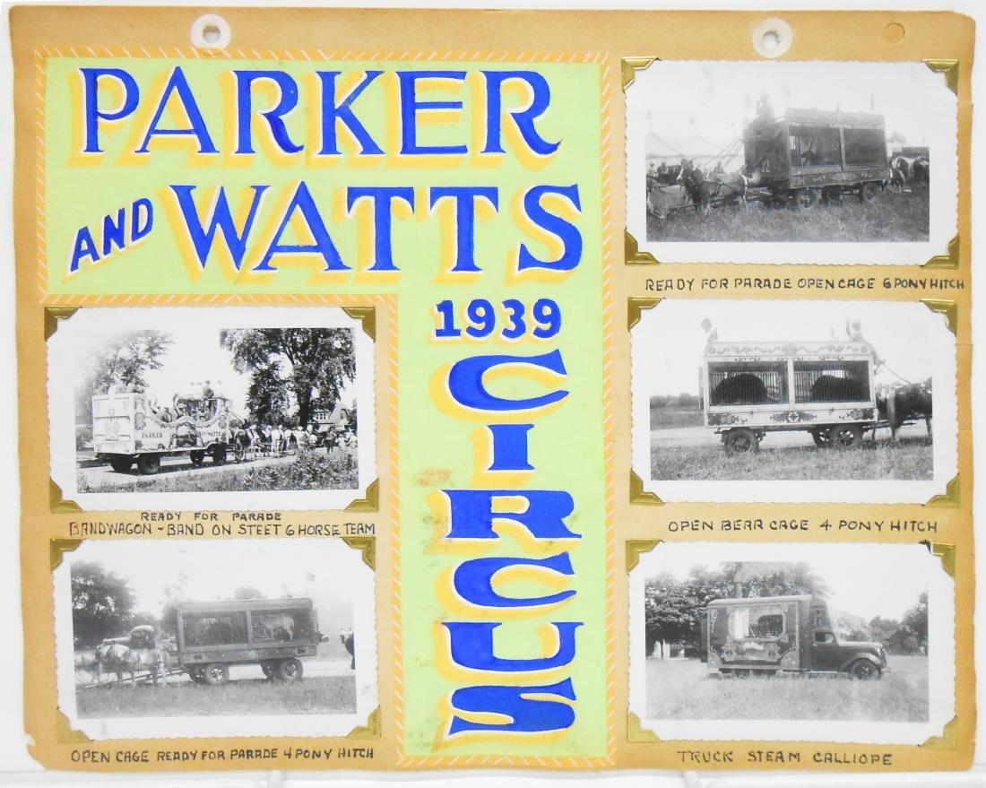 PARKER & WATTS, 1939 & WALLACE BROS. 1944 CIRCUS PHOTOS - 2