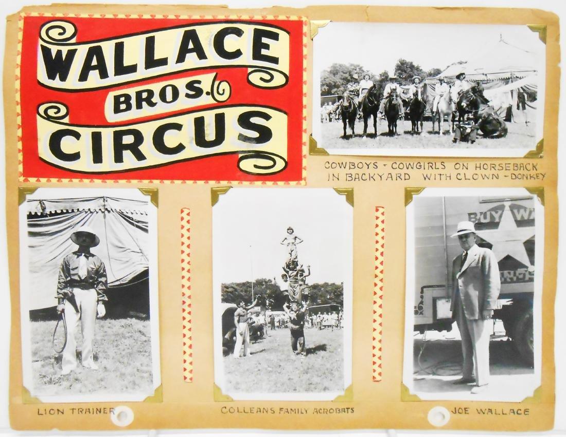 PARKER & WATTS, 1939 & WALLACE BROS. 1944 CIRCUS PHOTOS - 4
