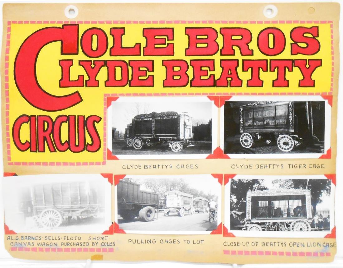 COLE BROS and CLYDE BEATTY CIRCUS 1935-1936 PHOTOS