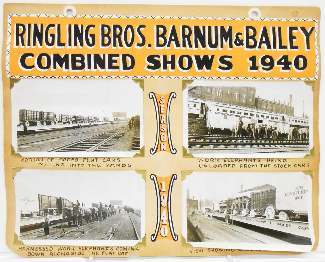 RINGLING BROS. BARNUM & BAILEY 1940 CIRCUS PHOTOS, ETC.