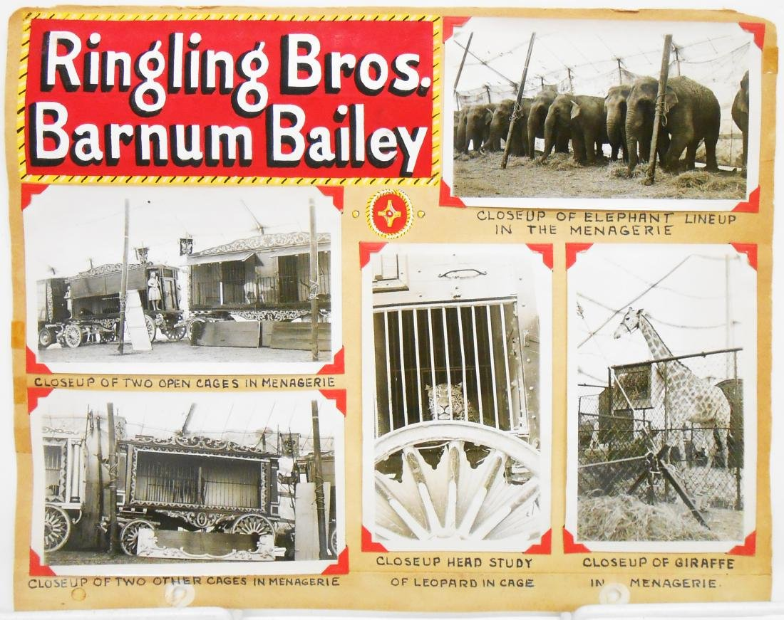 RINGLING BROS. BARNUM & BAILEY 1940 CIRCUS PHOTOS, ETC. - 3