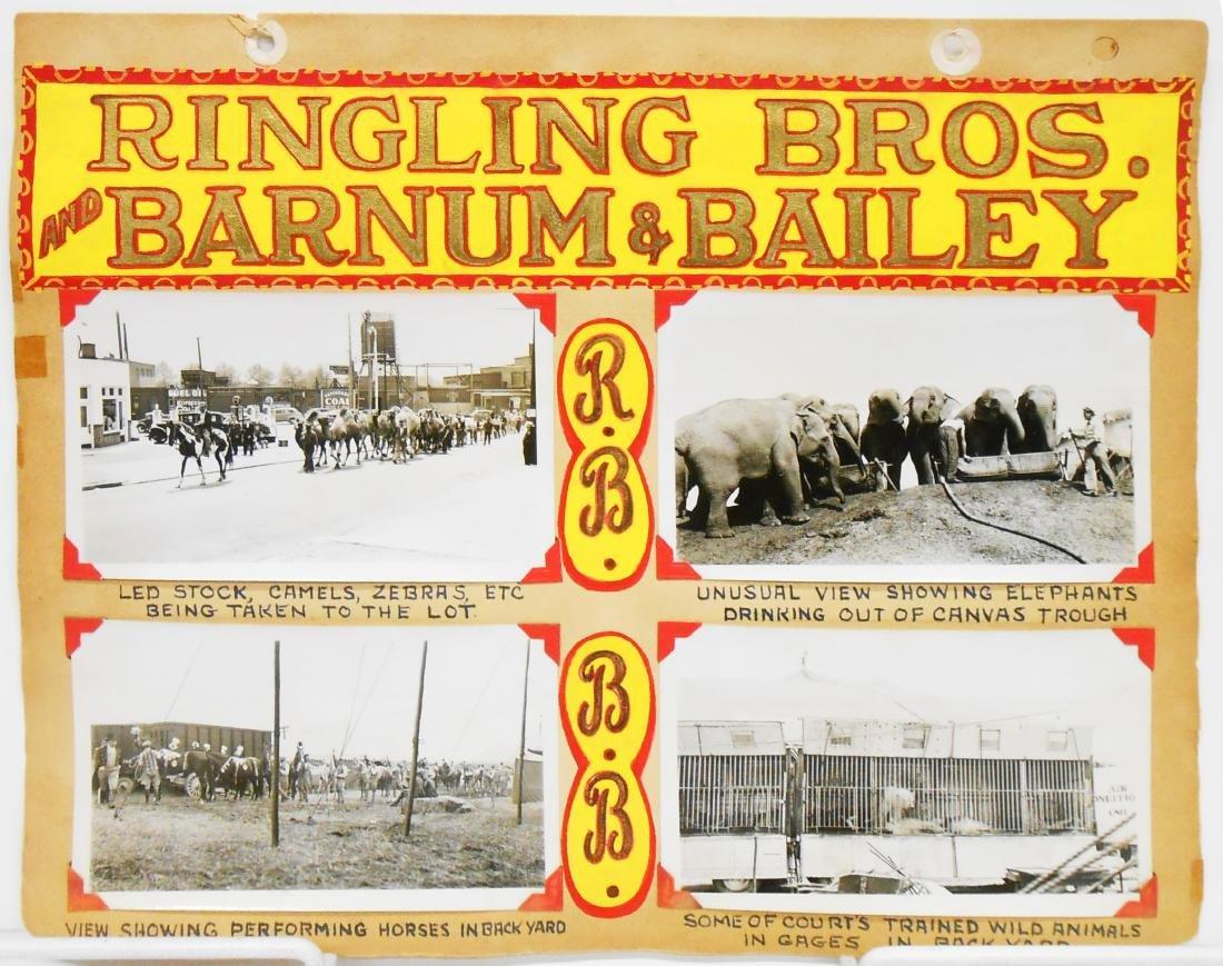 RINGLING BROS. BARNUM & BAILEY 1940 CIRCUS PHOTOS, ETC. - 4