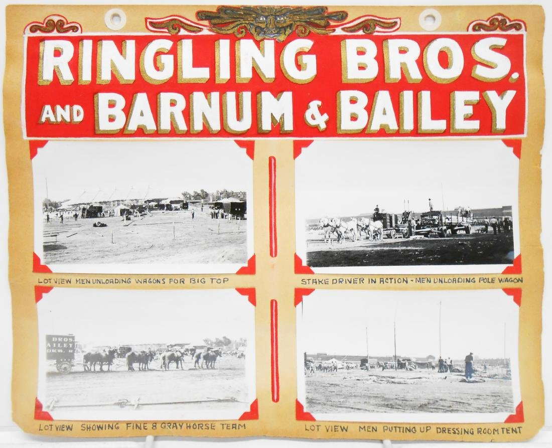 RINGLING BROS BARNUM BAILEY COMBINE CIRCUS PHOTOS 1937+