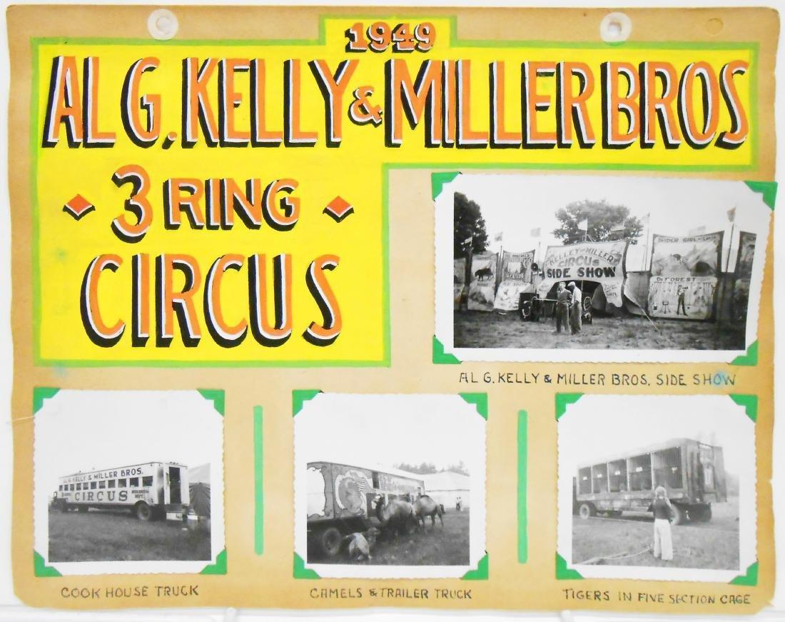 AL G. KELLY &  MILLER BOS. & DORSEY CIRCUS PHOTOS