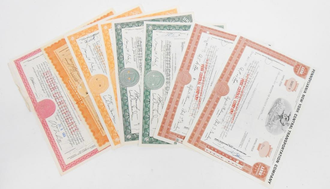 (13) RAILROAD STOCK CERTIFICATES