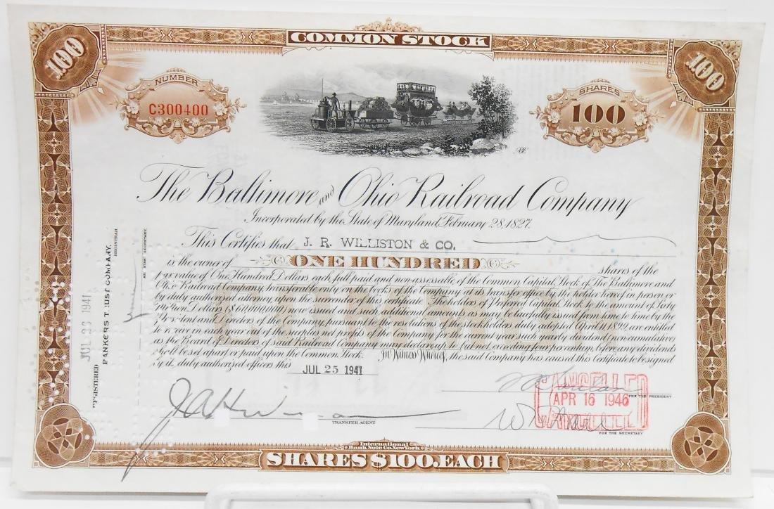 (6) BALTIMORE & B&O STOCK CERTIFICATES - 2