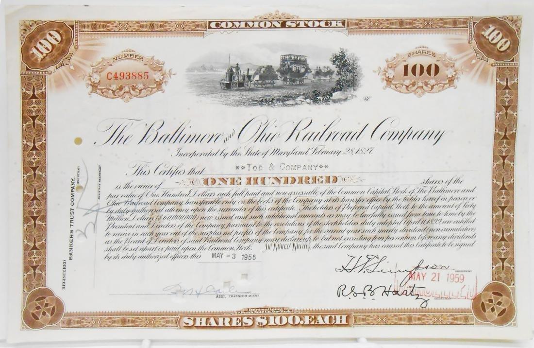 (6) BALTIMORE & B&O STOCK CERTIFICATES - 3