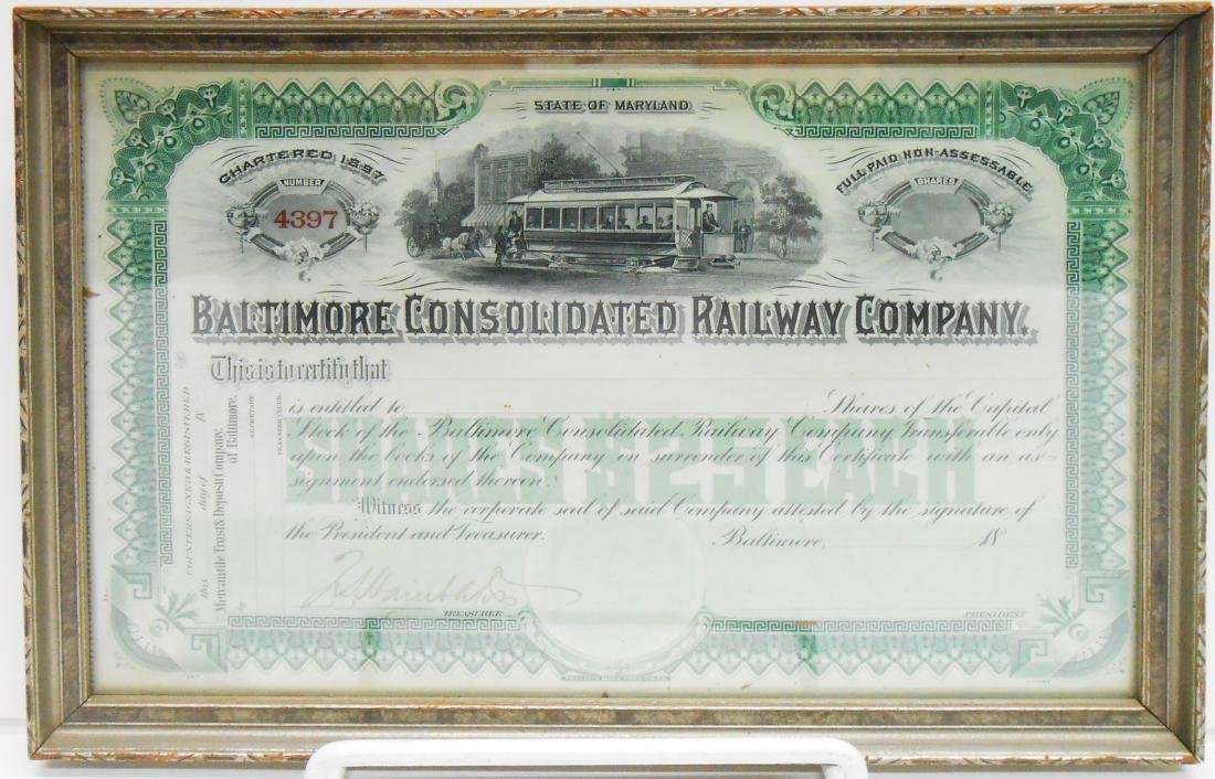 (6) BALTIMORE & B&O STOCK CERTIFICATES - 6