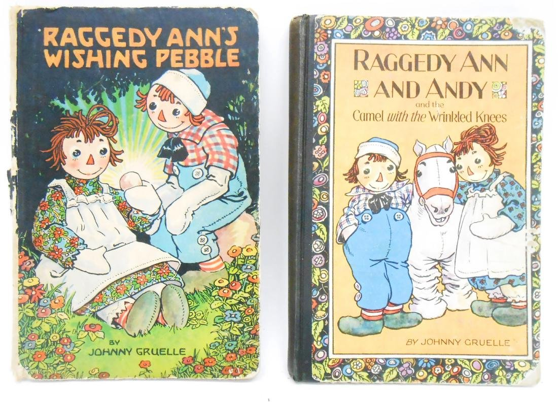 (12) JOHNNY GRUELLE RAGGEDY ANNE, ETC. BOOKS