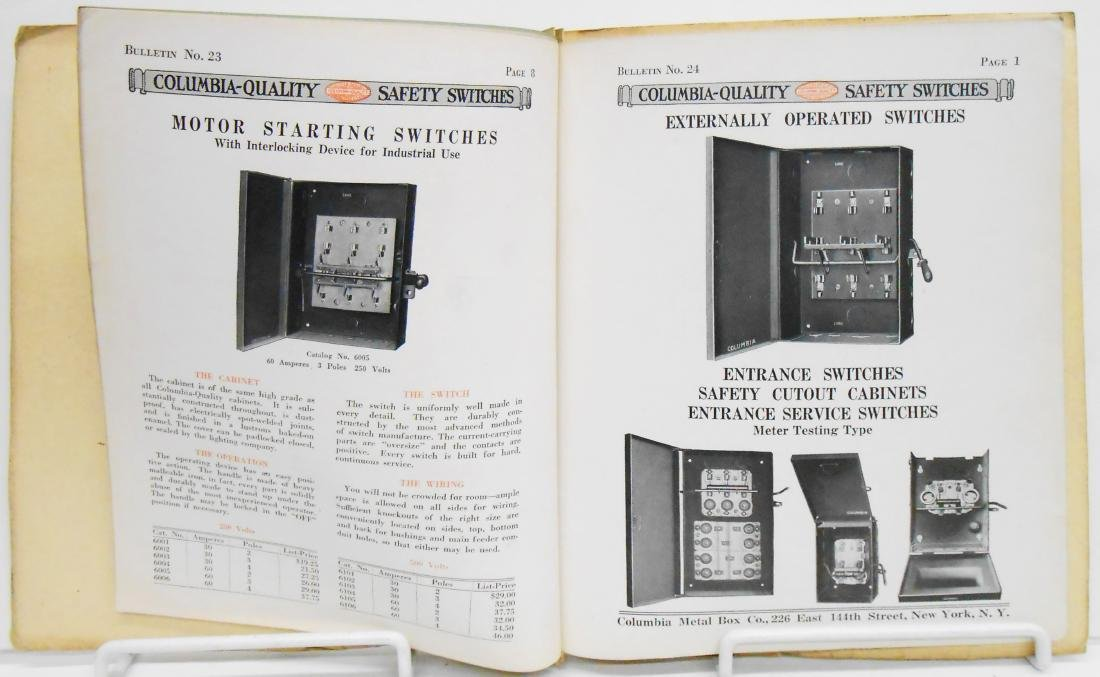 (6) INDUSTRIAL ELECTRICAL SUPPLY CATALOGS - 8