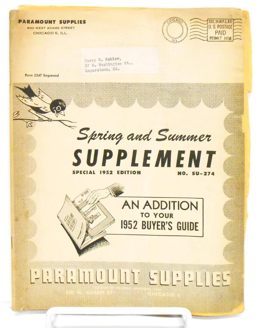 (4) INDUSTRIAL SUPPLY CATALOGS
