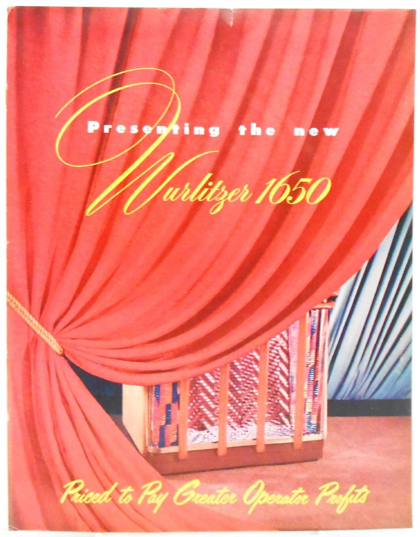 WURLITZER JUKEBOX 165O BROCHURE