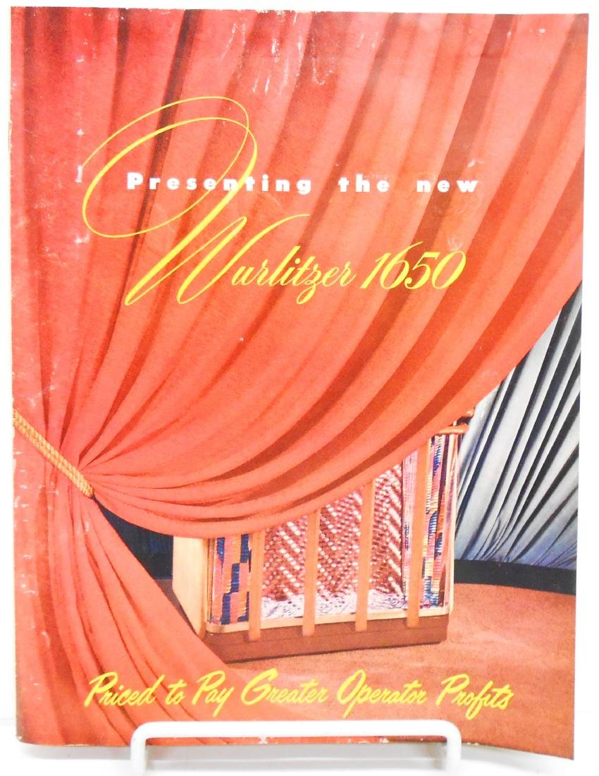 (2) WURLITZER JUKEBOX BROCHURES