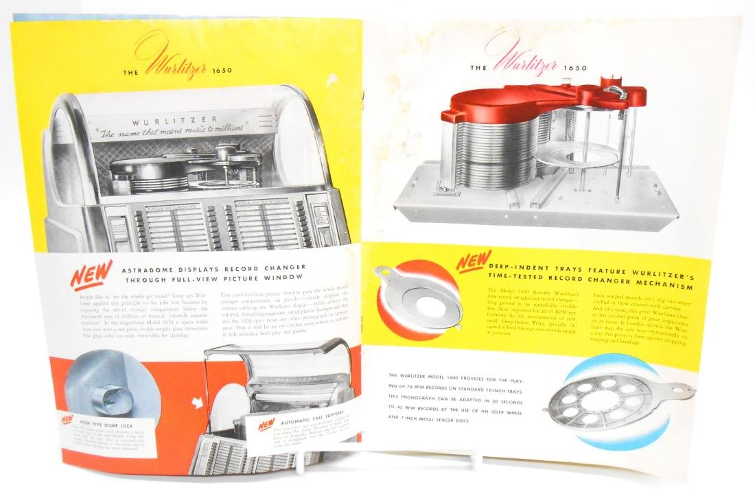 (2) WURLITZER JUKEBOX BROCHURES - 3