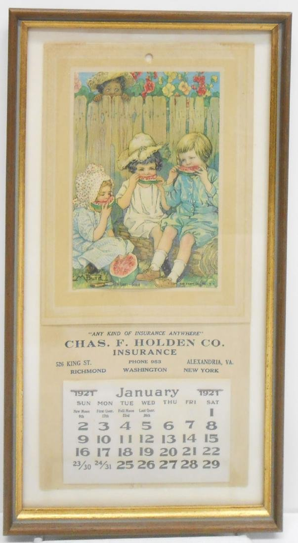 (2) FRAMED ADVERTISING CALENDARS