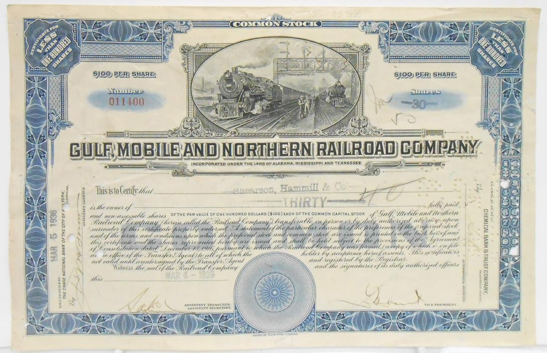 (5) TRAIN & RAILWAY STOCK CERTIFICATES & BOOKS - 2
