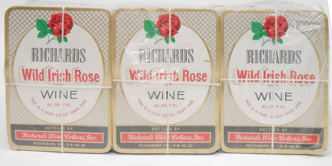 (1000+) BULK RICHARDS WILD IRISH ROSE WINE LABELS