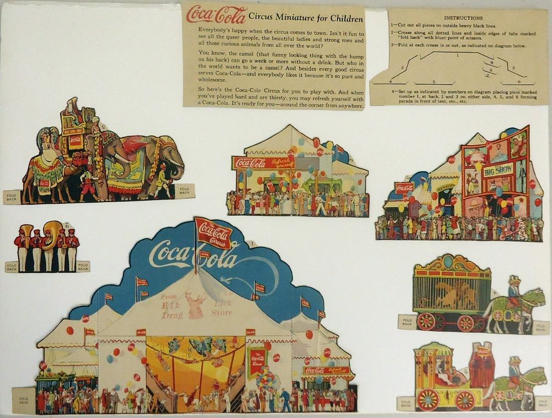 """1927 COCA-COLA """"CIRCUS MINIATURE FOR CHILDREN"""""""