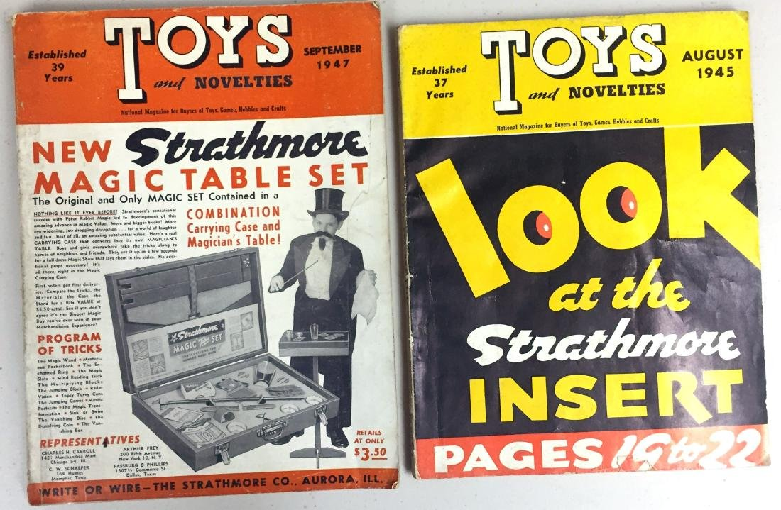 "(2) ""TOYS & NOVELTIES"" CATALOGS"